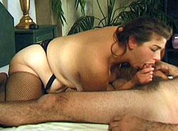 Horny fatty enjoys wet pussy licking